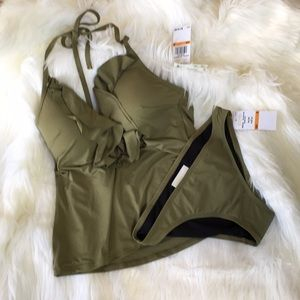 Michael Kors Bikini Safari Green two piece Size S
